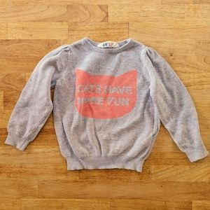 Cats Have More Fun H&M sweater